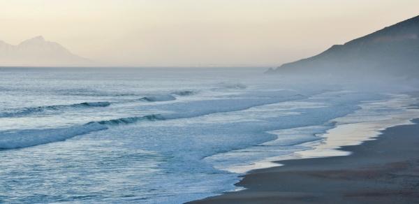 morning fog over the beach