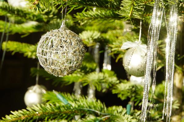 christmas tree baubles on the christmas