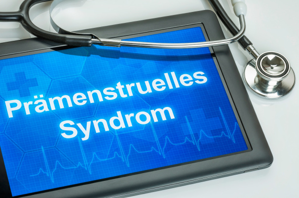 tablet with the diagnosis of premenstrual