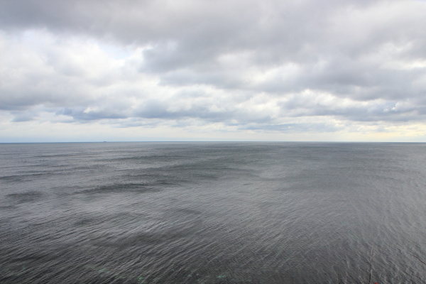 ocean horizon with black water and