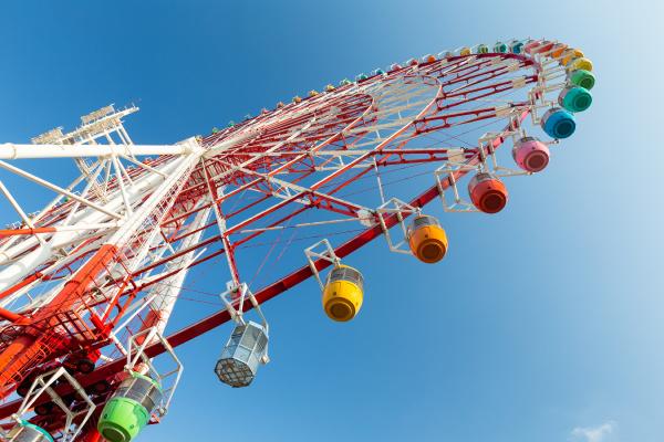 ferris, wheel, under, blue, sky - 16323345