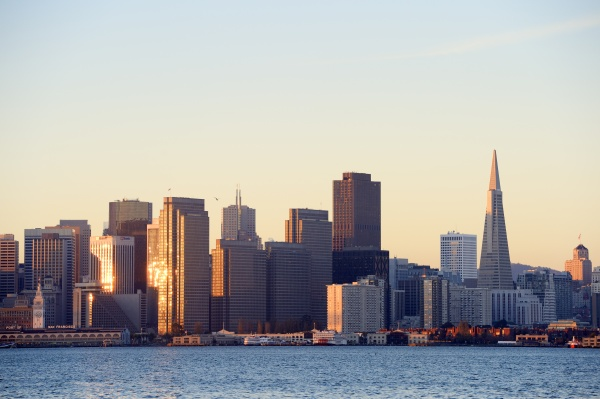 usa california san francisco skyline of