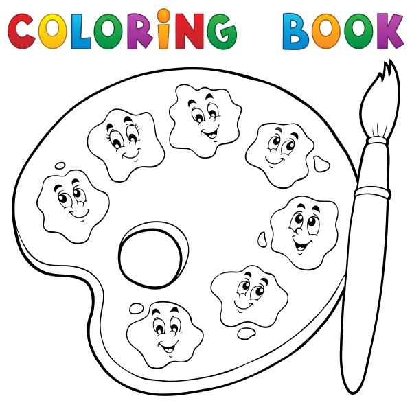 coloring, book, paint, palette, theme, 2 - 16328559