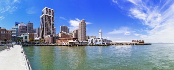 usa california san francisco skyline with