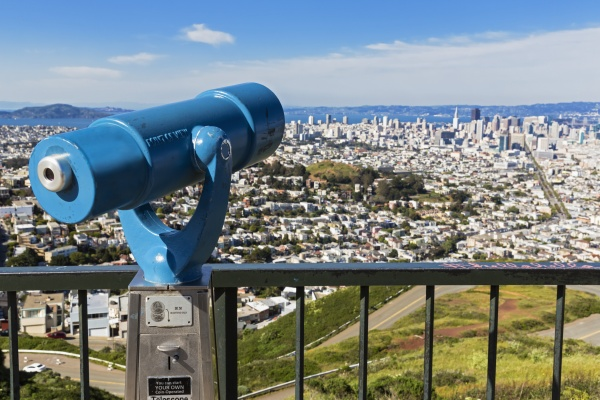 usa california san francisco viewpoint twin