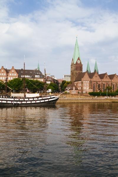 germany bremen river weser