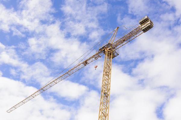 yellow, industrial, crane, , , against - 16334011
