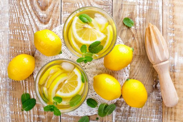 summer, citrus, lemonade, drink, with, fresh - 16338591