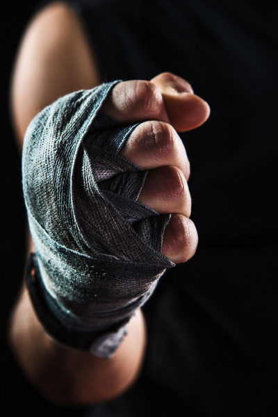 close-up, hand, of, muscular, man, with - 16339515
