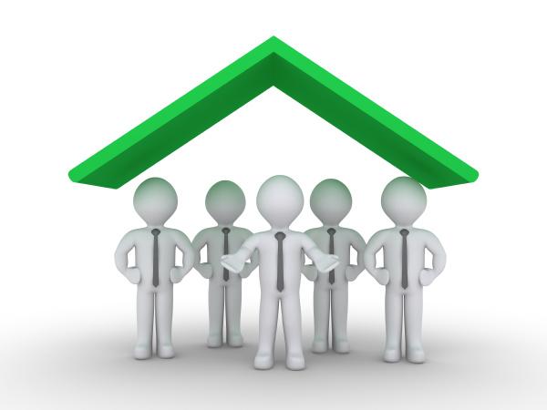 businessmen, are, under, roof - 16347277