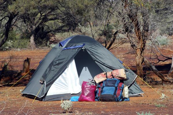 camp site in the bush