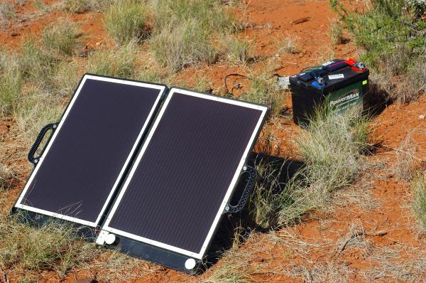 solar panel in the australian bush