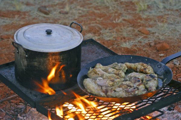 kitchen in full australian desert