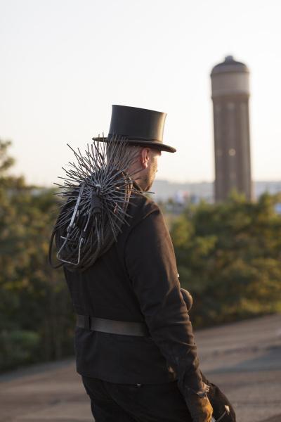 germany walking chimney sweep