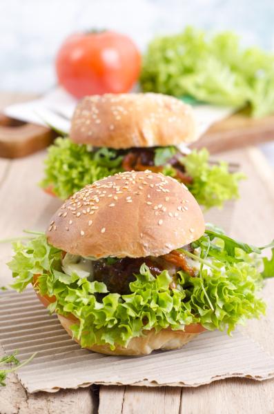 homemade veggie burger on sesame roll