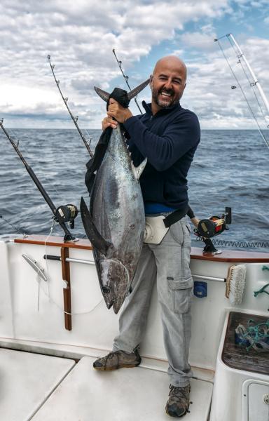 spain asturias fisherman holding