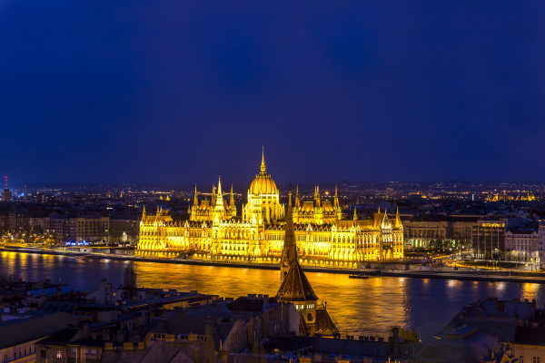 hungary budapest view to river danube