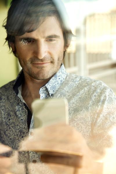 portrait of man using smartphone