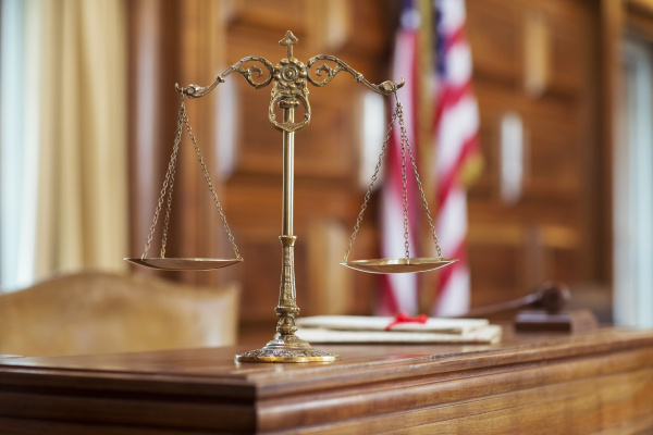 scales of justice on the judges