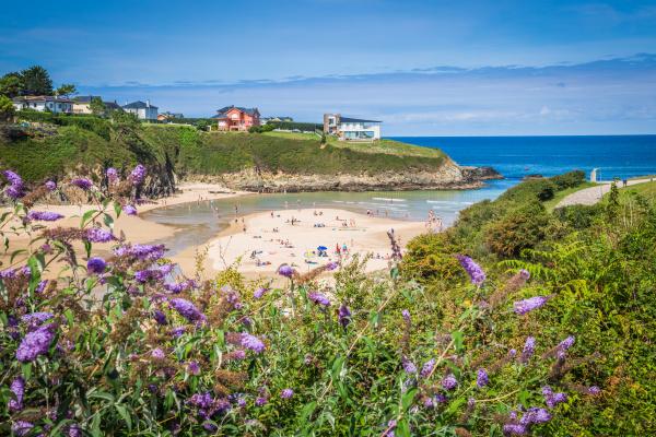 entreplayas beach in galicia spain paradise