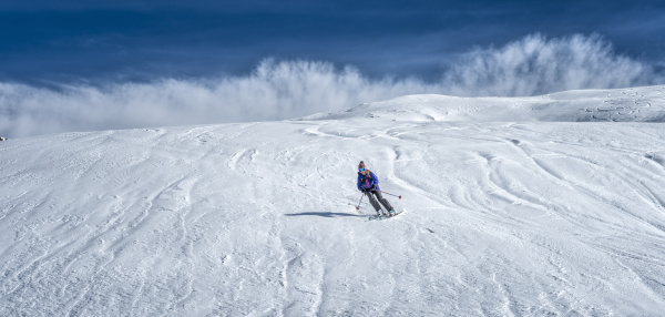 france les contamines ski mountaineering downhill