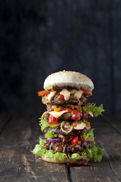extra large hamburger