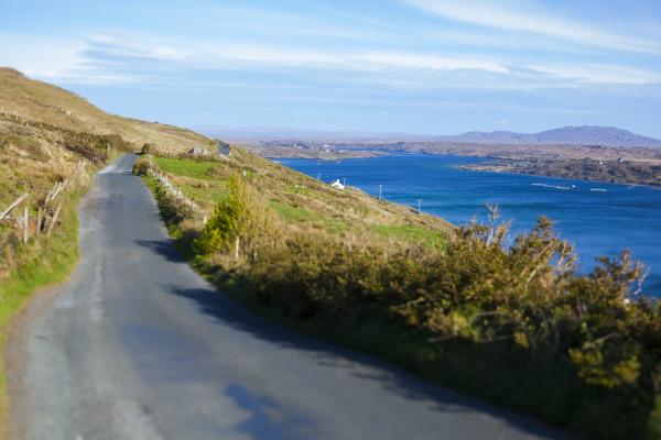 ireland country road in connemara