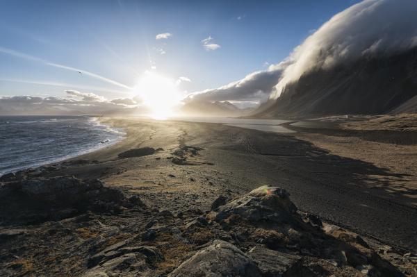 seascape in the stokknes area