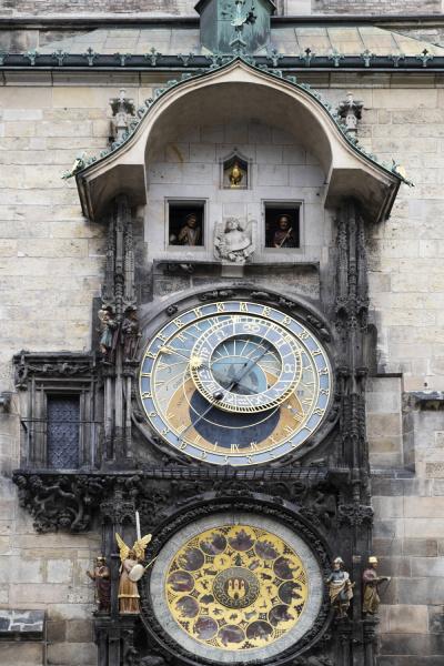 close up of prague astronomical clock
