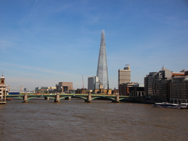 river thames with the shard tower
