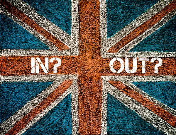 brexit concept over british union jack