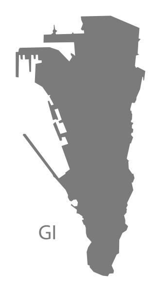 gibraltar map grey