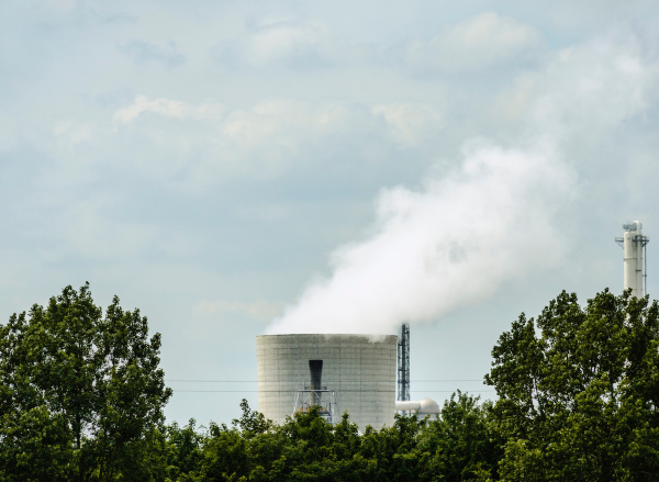 smokestack of chemical plant