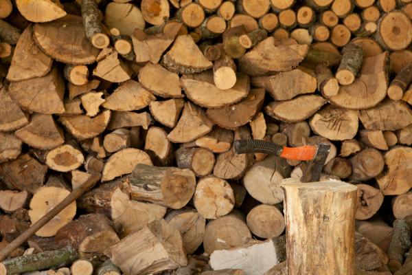 axe stuck in chopping block