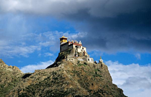 monastery on top of a mountain