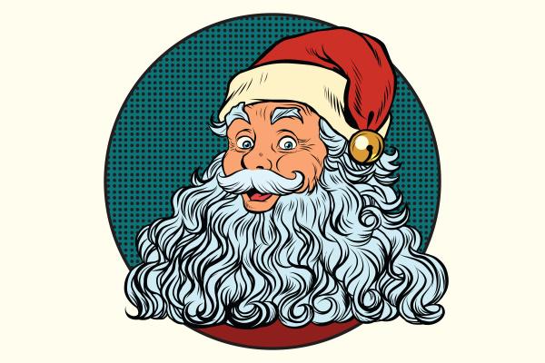 classic santa claus with white beard
