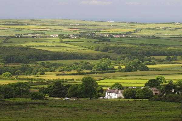 landscape near reynoldston gower wales united