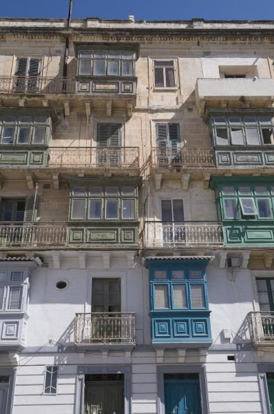 typical window architecture valletta malta europe