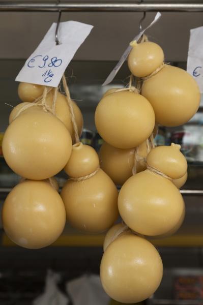 caciocavallo cheese for sale in a