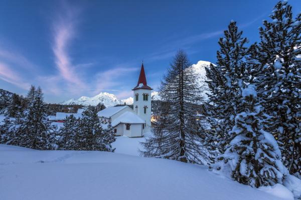 the white church of maloja pass