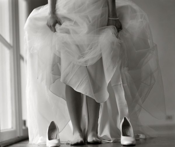 a bride is about to wear