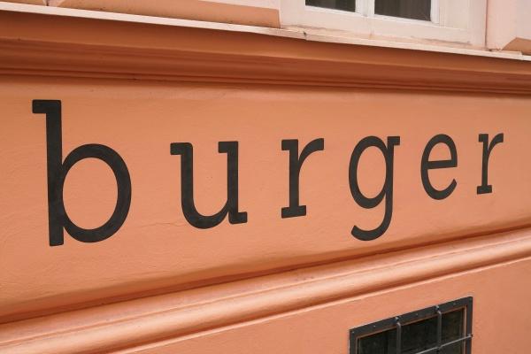 facade of a burger restaurant in