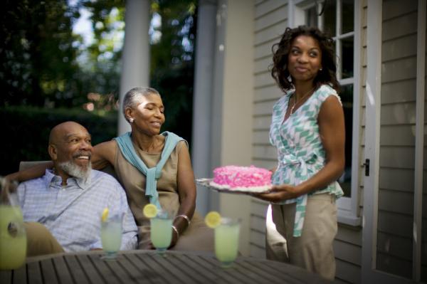 mature couple celebrating their wedding anniversary