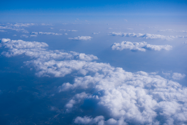 beautiful cloud clouds from airplane