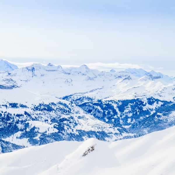 winter, snow, covered, mountain, peaks, in - 19345688