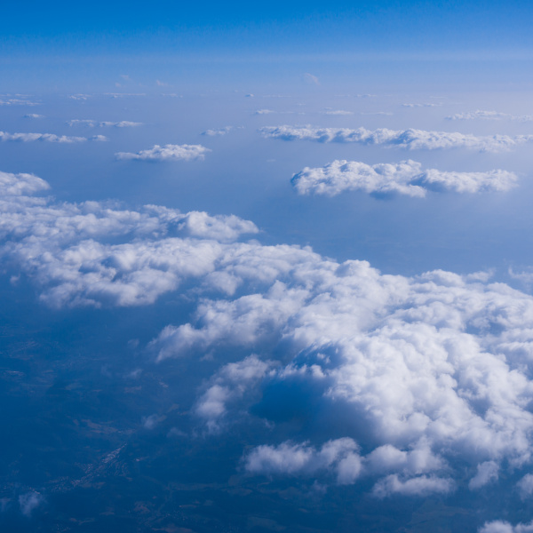 beautiful, cloud., , clouds, from, airplane - 19346880