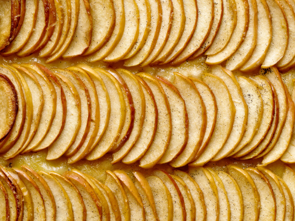rustic french apple galette food background