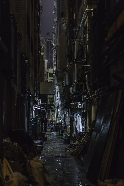 dark alleyway at night hong