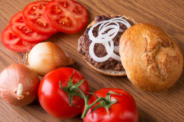 delicious home made hamburger