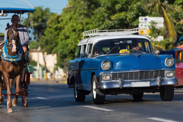american blue chevrolet classic car with